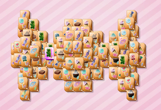 Play with Candy Themed Tiles in Mahjong Diamonds